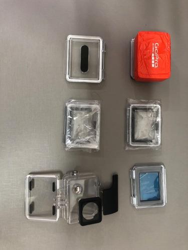acessórios  gopro 3/4 - 2 baterias, meudome, caixa gopro