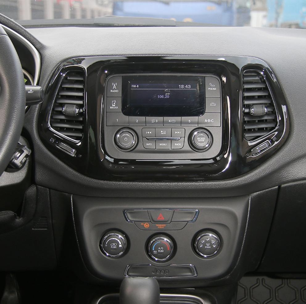 Acessorios Jeep Compass Moldura Central Multimidia   Black. Carregando Zoom.