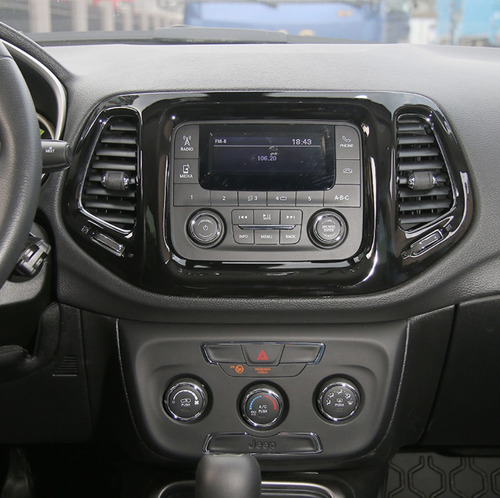 acessorios jeep compass moldura central multimidia - black