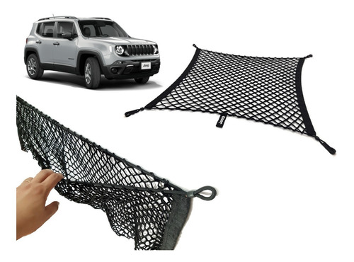 acessórios jeep renegade combo com duas redes porta objetos