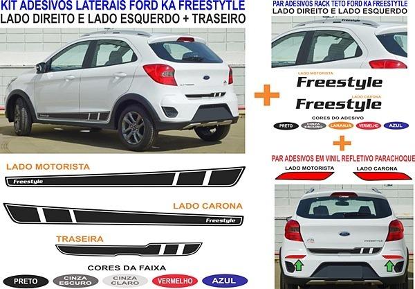 Acessorios Novo Ford Ka Freestyle Kit Adesivos Completo R 179 99 Em Mercado Livre