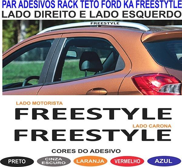 Acessorios Novo Ford Ka Freestyle Par Adesivo Rack Teto 2019 R 39 99 Em Mercado Livre