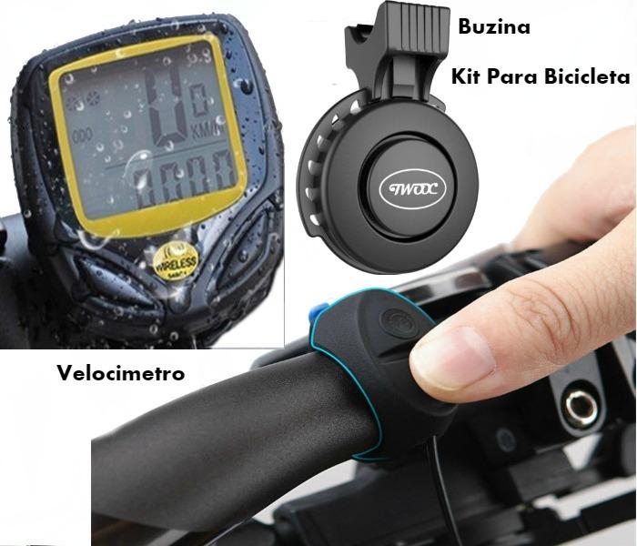 79e761adc Acessorios Para Bicicleta Buzina Velocimetro Bike Sem Fio - R$ 119,00 em Mercado  Livre
