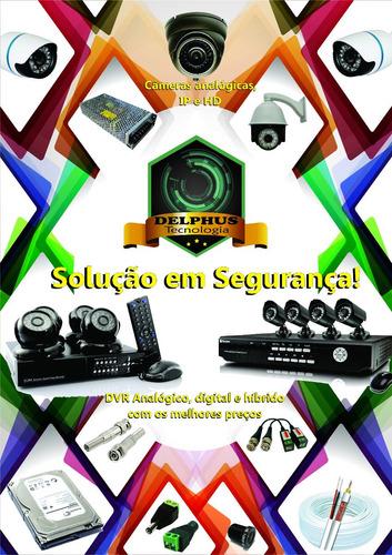acessórios para instalação de câmeras- fonte- cabo- conector