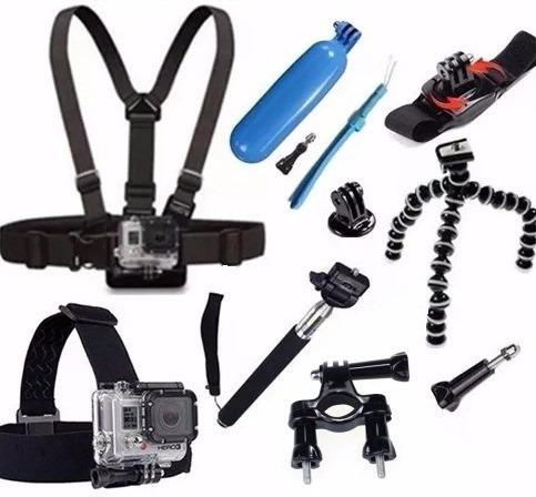 acessorios top gopro cinta peito cabeça pulso bike flutuador