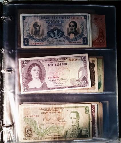 acetato coleccion de billetes con 3 cavidades