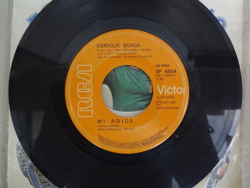 acetato de enrique borja,mi adios, rca 1977