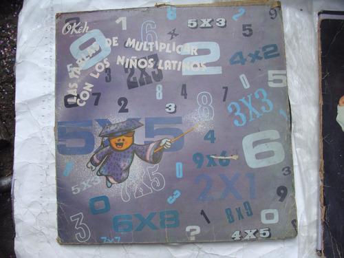 acetato las tablas de multiplicar con los niños latinos