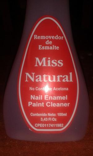 acetona removedor de esmalte miss natural al mayor