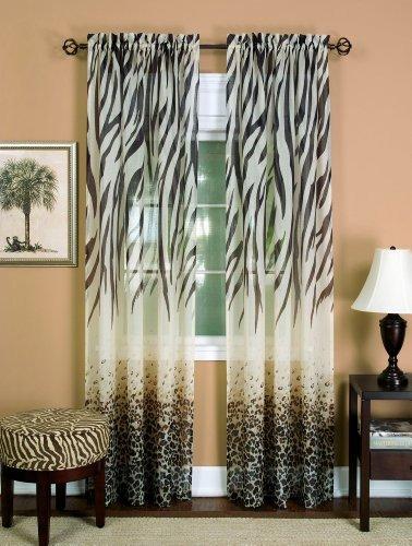 achim home furnishings kenia panel de cortina, color café,