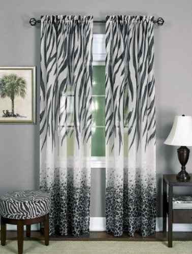 achim home furnishings kenia panel de cortina de ventana, ne