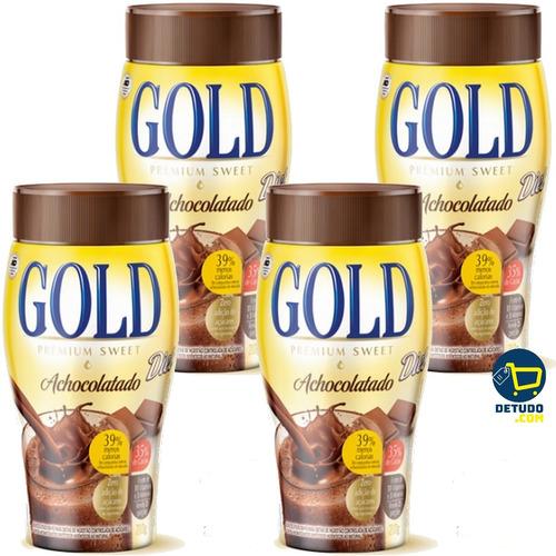 achocolatado gold diet vitaminado premium sweet 4 unidades