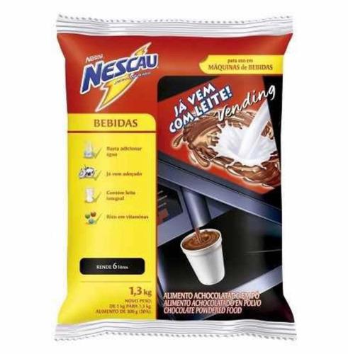achocolatado nescau c/ leite vending machine pc 1,3 kg