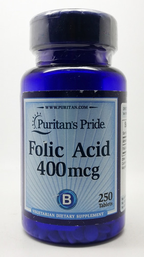 acido folico 400 mcg - puritan pride - made in usa
