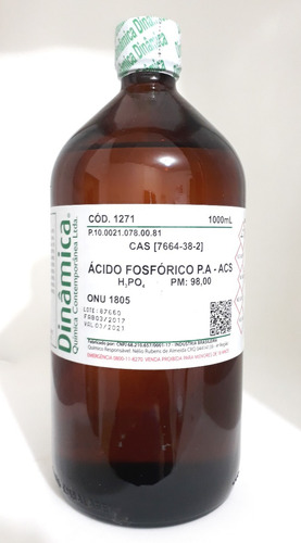 ácido fosfórico 85% pa 1000ml purissimo