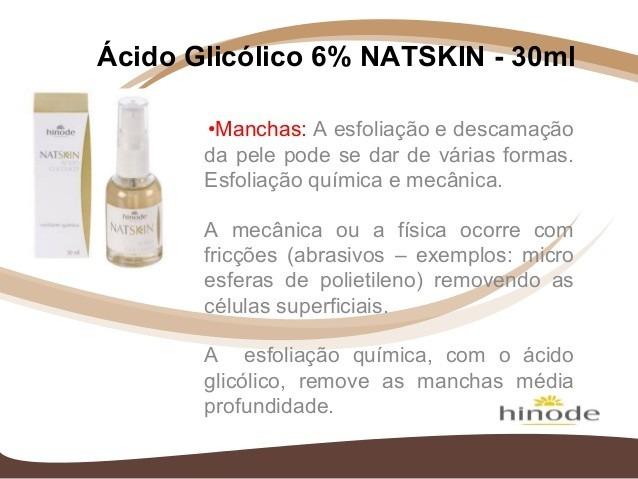 Ácido Glicólico 6% - Linha Hinode Natskin Natal R N