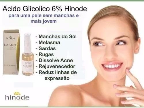 Acido Glicolico Hinode 6 Clareia Pele Tira Manchas De Sol R 49