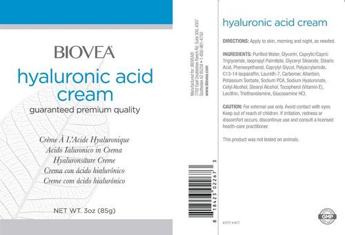 ácido hialurônico em creme - importado biovea - 85grs
