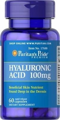 acido hialuronico 100mg. puritans pride 60 cápsulas