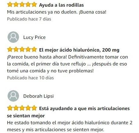 ácido hialuronico 180 pastillas dolor articulaciones piel us