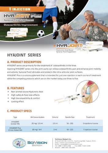 ácido hialurónico al 1% hyajoint