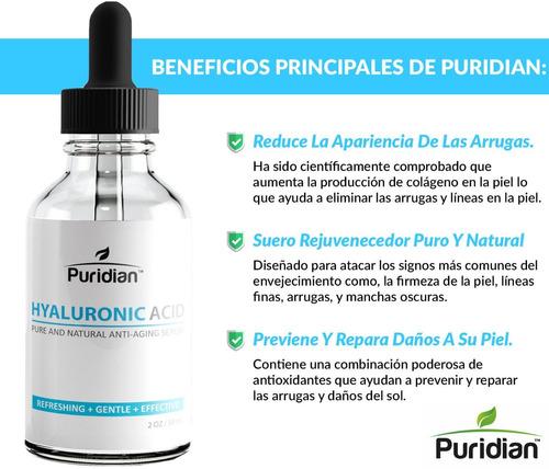 acido hialuronico puro de alta potencia reduce manchas, arru