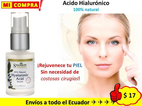 acido hialurónico quita arrugas aclarante reafirma 100% eeuu
