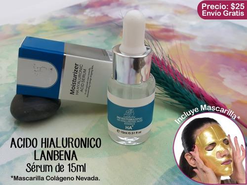 acido hialuronico serum colagen mascarilla masajeador facial
