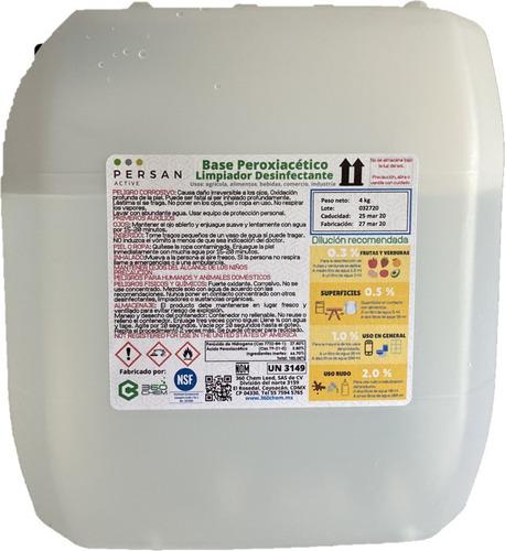 ácido peracético 15%, formulado, persan active 4kg