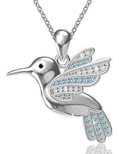 Plata Esterlina 925 tarareando Bird Collar