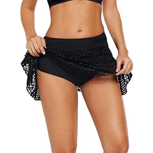 ackkia encaje de mujer crochet falda bikini