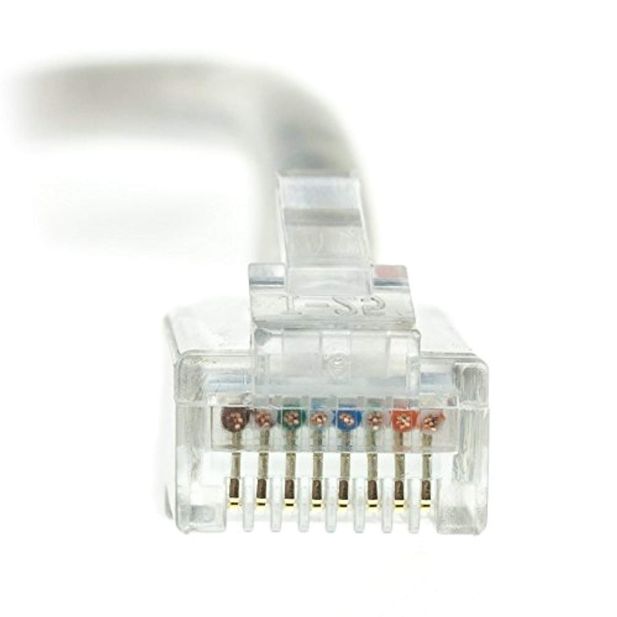 Gray 24 AWG CMP 3 Pack ACL 25 Feet Cat5e Plenum RJ45 Bootless Ethernet Lan Cable