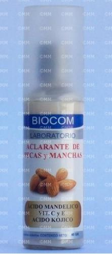 aclarante de pecas y manchas biocom despigmentante