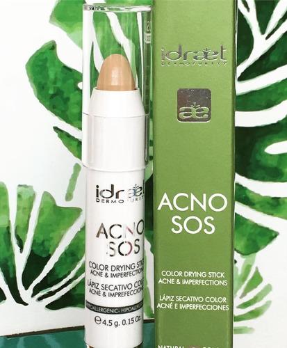 acno sos lapiz secativo color acne imperfecciones idraet