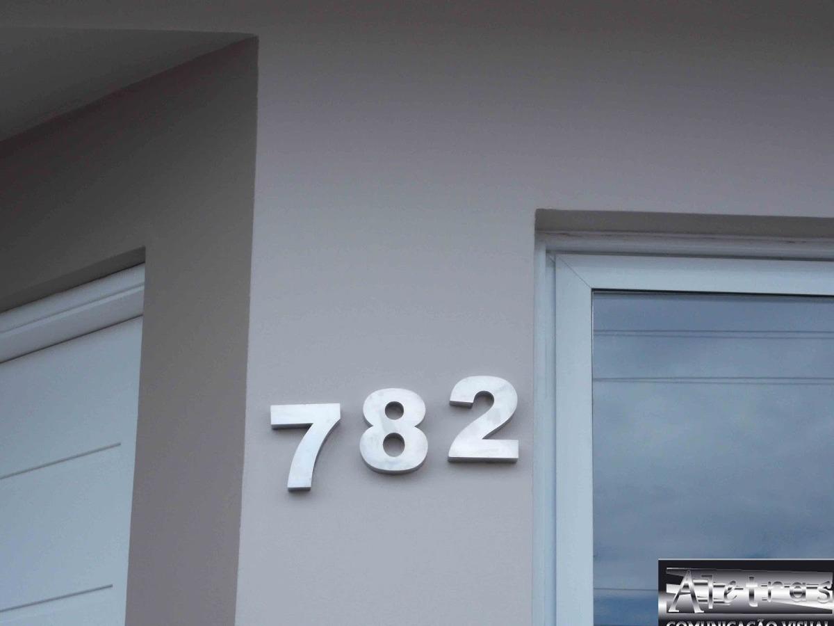 Numero a o inox 304 espelhado polido residencial casa for Casa moderna numero 2