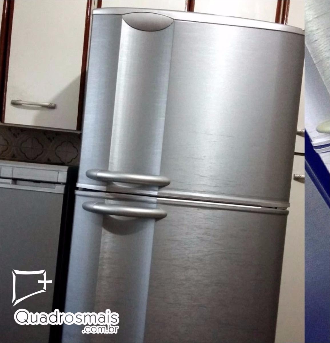 Adesivo Geladeira Móveis Inox Aço Escovado Decor 4,0x1