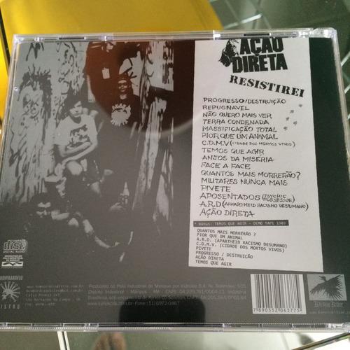 ação direta - cd resistirei + bônus demo tape de 1989