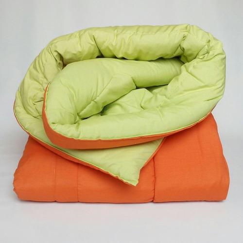 acolchado / cobertor 2 1/2 plaza colores doble faz