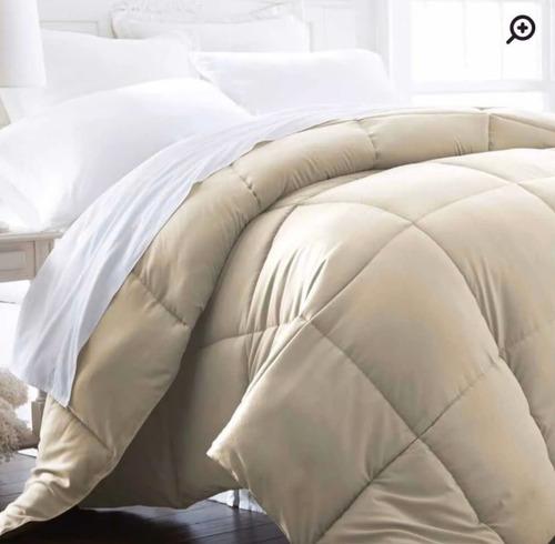 acolchado edredon reversible efecto duvet termico king size