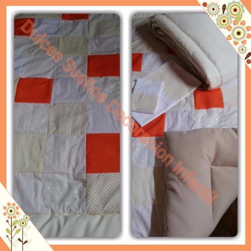 acolchado patch/chichonera lisa para cuna/practicuna/moises