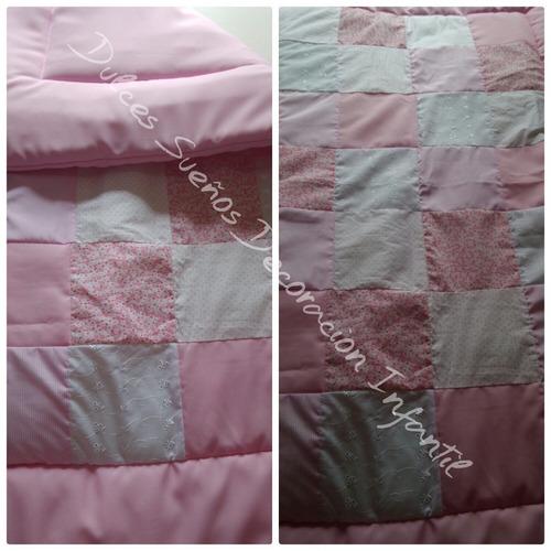 acolchado patchwork para cuna/practicuna/moises