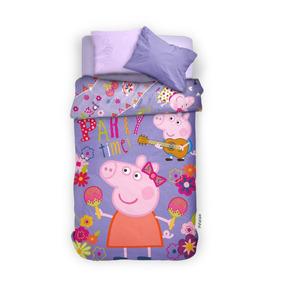 Edredon Nordico Peppa Pig.Acolchado Peppa Pig 1 1 2 Plaza Pinata