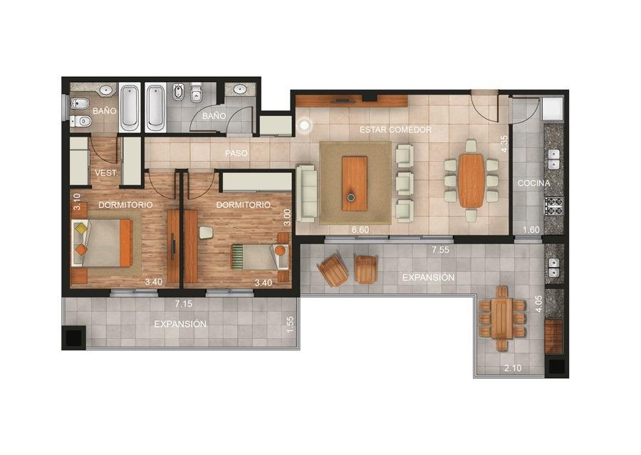 aconcagua 200 - ingeniero maschwitz - departamentos 3 ambientes - alquiler