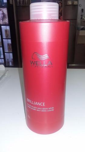 acondicionador brilliance wella 1 litro cabellos con color