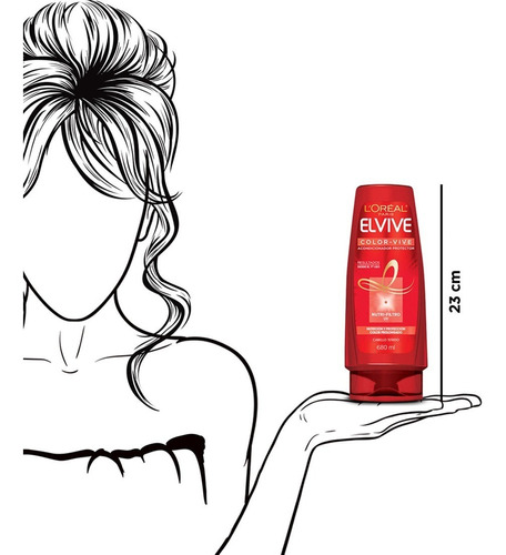 acondicionador cabello color vive elvive 680ml l'oréal paris