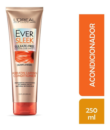 acondicionador cabello con frizz ever sleek l'oréal