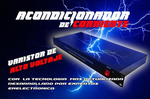 acondicionador de corriente 48.2x21.6x4.5 cm medida rack