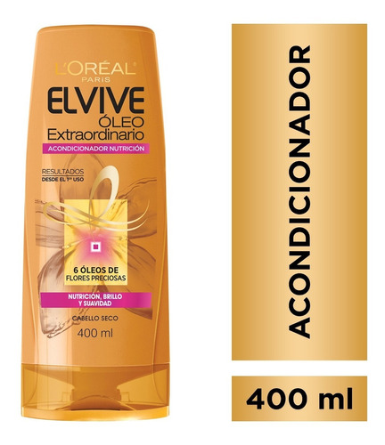 acondicionador oleo extraordinario 400ml elvive loreal paris