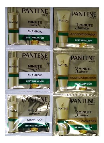 acondicionador + shampooo pantene 24 sobrecitos total