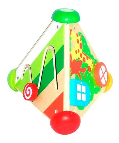 acool triangulo didáctico musical  de madera ac7634 full